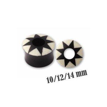 Ohr Plug aus Horn 10mm bis 14mm
