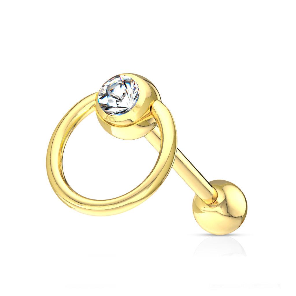 Zungenpiercing mit Ring 1,6x16mm
