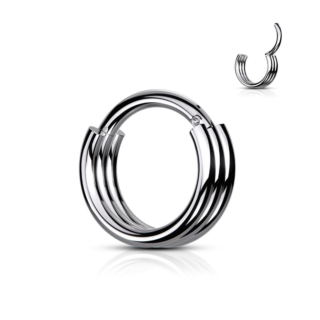 Septum Ring mit 3 Ringe