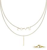Stylishe Halskette für Damen 2-reihig
