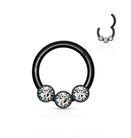 Schwarzer Segment Ring