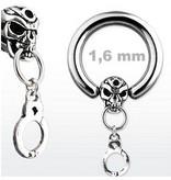 1,6 mm Skull Piercing Ring