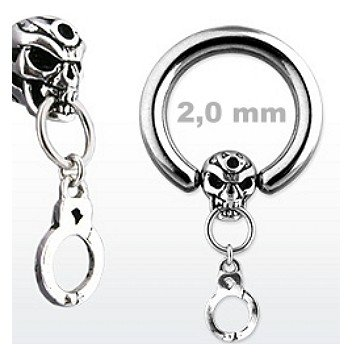 2 mm BCR Ring mit Totenkopf