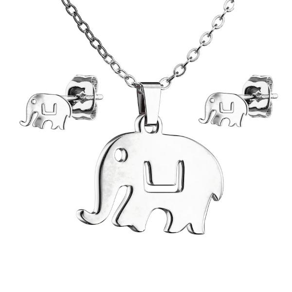 Edelstahl Damen Collierkettchen Elefant
