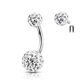 Bauchnabelpiercing  Glitzerkugel