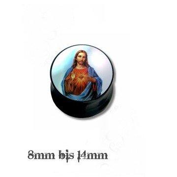 Ohr Plug betender Jesus