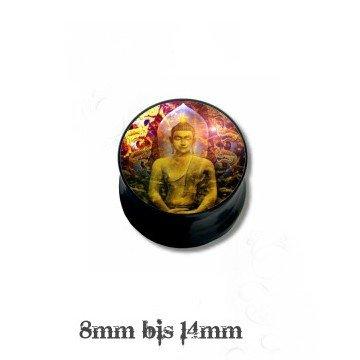 Schwarzer Ohr Plug Buddha