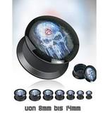 Acryl Plug Skull aufschraubbar