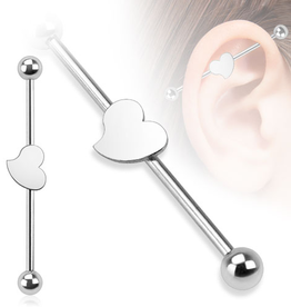 Industrial Ohrpiercing  Herz