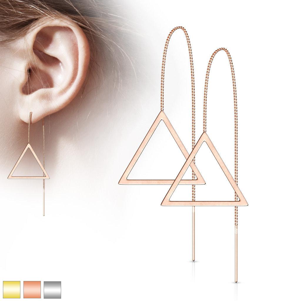Durchzieher Ohrringe aus Edelstahl