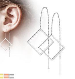 Durchzieher Ohrringe viereck