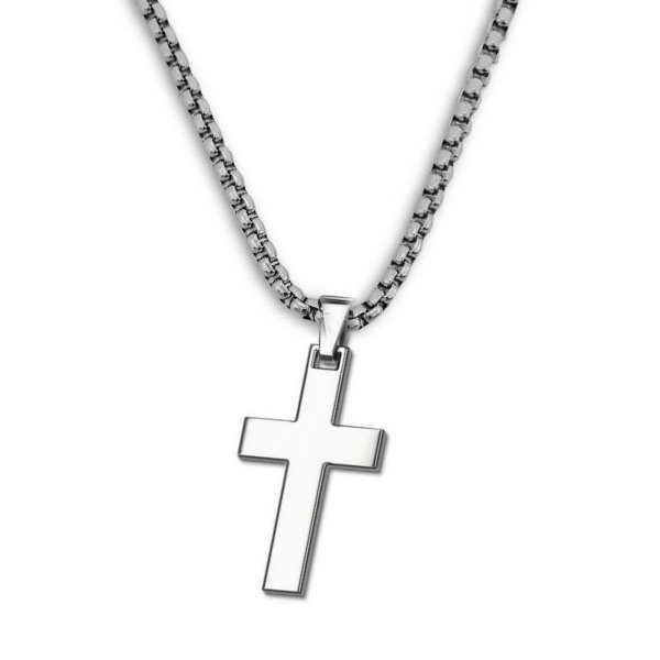 Edelstahlanhänger mit einfachen Kreuz