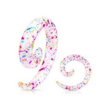 Bunte Dehnspirale mit schönen Farben