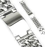 Breites Herrenarmband aus hochwertigem Edelstahl