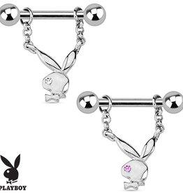 Brustpiercing Playboy Bunny