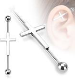 Industrial Piercing Kreuz - 1,6 x 38 mm