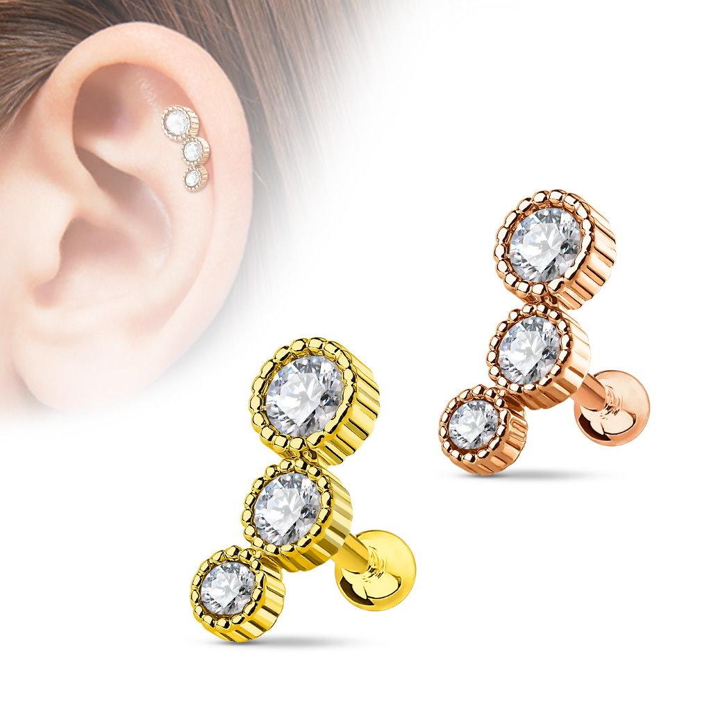 Helix & Tragus Piercing gold oder rose