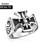 Edelstahl Ring für Herren Lilie