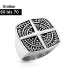 Herren Edelstahl Ring Kompass