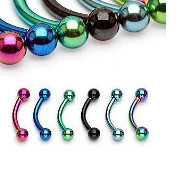 Augenbrauenpiercing eloxiert - 6 Farben
