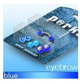Augenbrauen Piercing Set