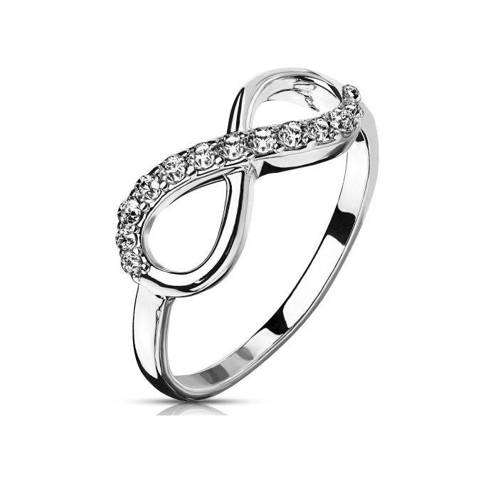 Damenring Infinity mit kristall Steinchen