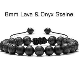 Armband Lavastein & Onxy