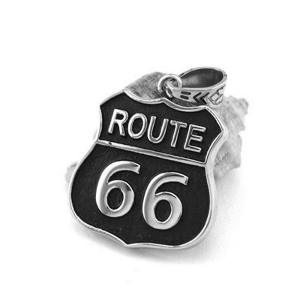 Kettenanhänger Route 66 Edelstahl