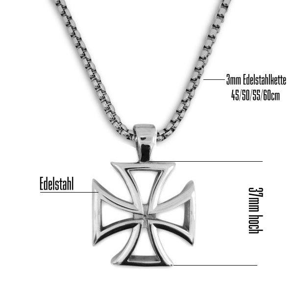Kettenanhänger Eisernes Kreuz  aus Edelstahl