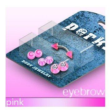 Augenbrauenpiercingset in pink