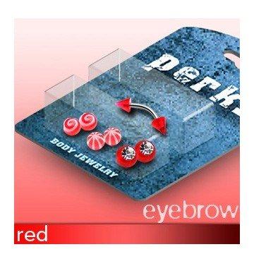 Augenbrauenpiercing Set Rot