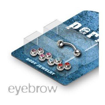 Augenbrauen Piercingset mit Zirkoniasteinen