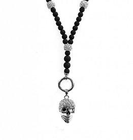 Lange Damen Halskette Totenkopf