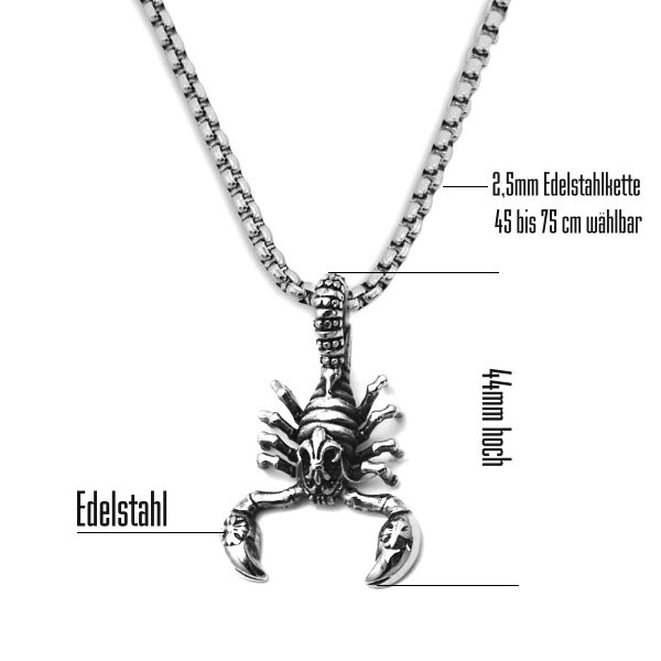 Kettenanhänger Skorpion