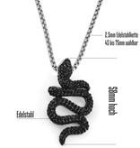 Kettenanhänger Schlange aus Edelstahl