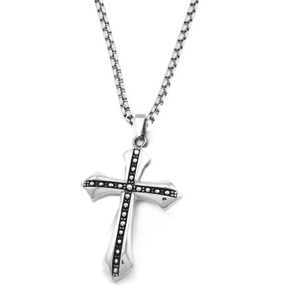 Kettenanhänger Kreuz aus Edelstahl