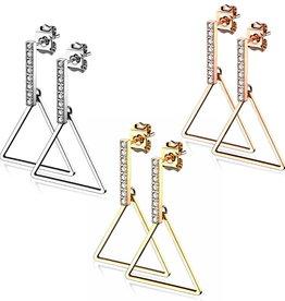 Dreieck Ohrringe hängend