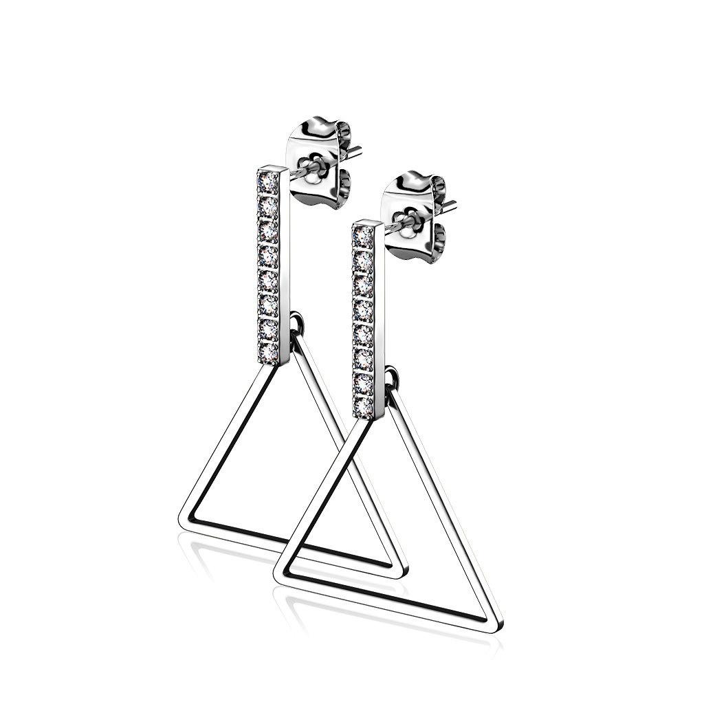 Dreieck Ohrringe hängend aus Edelstahl