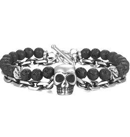Lava Armband Totenkopf