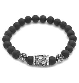 Mattes Onyxstein Armband