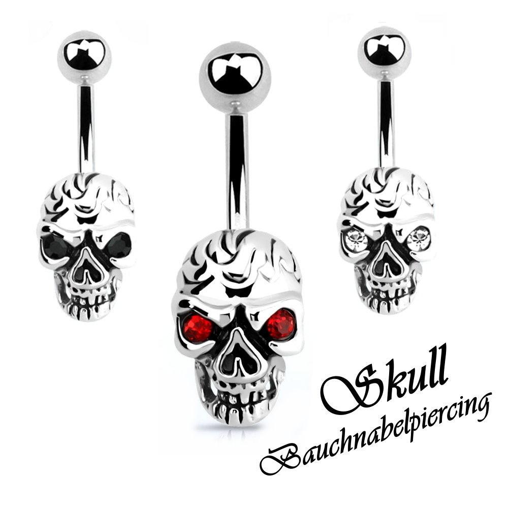 Skull Bauchnabelpiercing Totenkopf