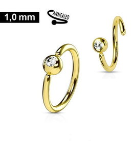 1,0 mm Piercing Ring  Stein