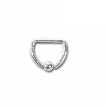 1,2 mm BCR- Piercingring - D-Ring