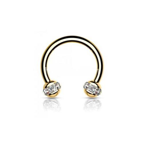 1,2 x 8 mm gold-färbiger Piercing Ring