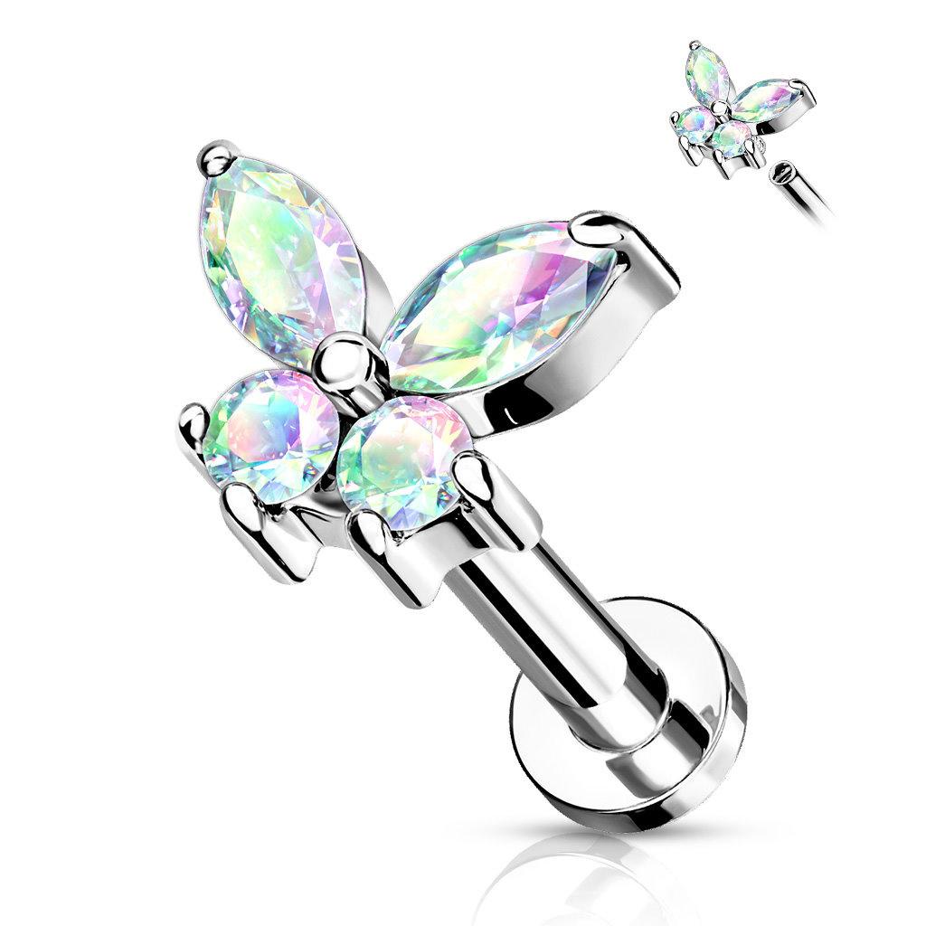 Helix Piercing Schmetterling mit Zirkoniastein