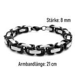 Herren Edelstahl Armband Gliederkette