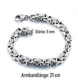 5 mm breites Edelstahl Armband Königskette