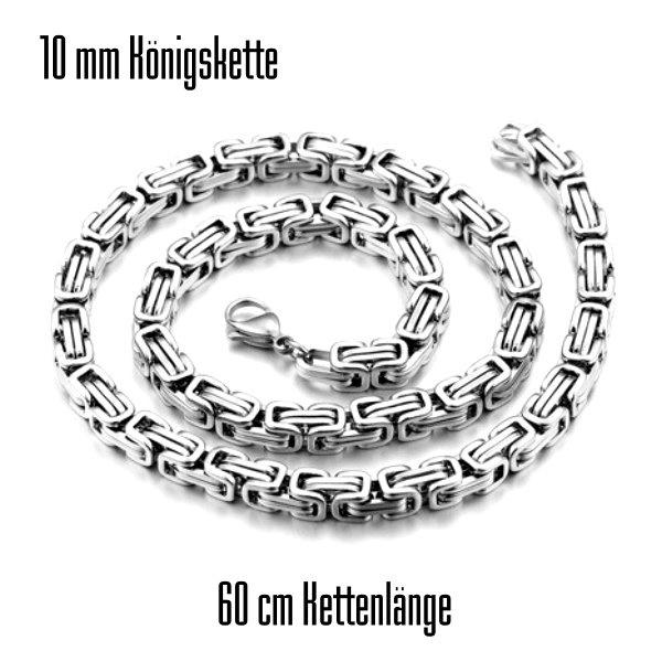 10 mm Königskette Edelstahl 60 cm lang