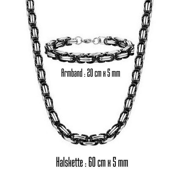 5 mm Königskette Edelstahl Set