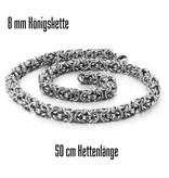 8mm silberfärbige Königskette  aus Edelstahl